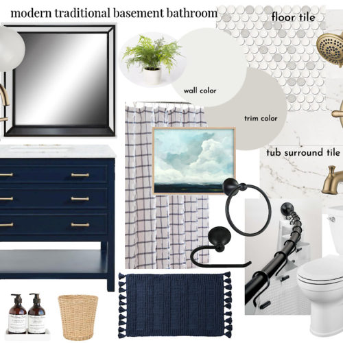 basement bathroom design plans